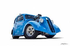 Blown Blue (DL_) Tags: vintage blue anglia hotrod streetrod automotive olympusomdem5mkii
