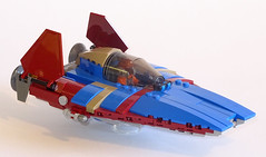 Racing A-Wing (Librarian-Bot) Tags: lego moc starwars space spacefighter starfighter