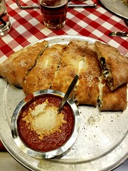 Grimaldi's calzone, get extra ricotta cheese! (Viper271) Tags: grimaldis food calzone pizzarito tasty delicious italian ricotta cheese marinara dinner dining