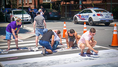 2017.06.10 Painting of #DCRainbowCrosswalks Washington, DC USA 6361