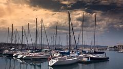 Postcard of sailboats (Iñaki MT) Tags: iñaki nakteve sail sunset asturias sailor beauty boats nanuq sailboat sea luxury tierno rich money iñakimateostierno iñakimateos mateos iñakimt clouds sky boat ship horizontal ocean calm