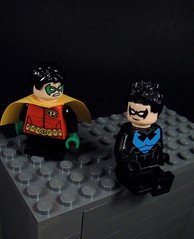 Nightwing and Robin (MrKjito) Tags: lego minifig batman comics comic nightwing robin super hero detetive rooftop hang out