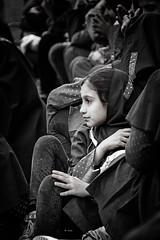 schoolgirl (freakingrabbit) Tags: portrait girl people street black white child monochrome school blackandwhite iran persia schoolgirl teheran