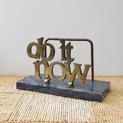 Do It Now. (Kultur*) Tags: vintage vintagehousewares brass organizer letterholder desk organize 1970s retro homeoffice 1980s doitnow office motivation