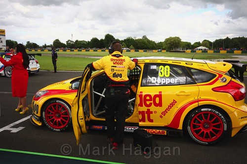 Martin Depper on the BTCC grid at Croft, June 2017