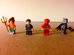 Sharpverse JLA (also entry to TheModularBrick's contest) (Mak Jonathan) Tags: sharpverse justiceleague aquagirl batman superman flash jla lego 1