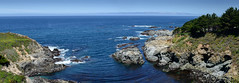 Pacific Inlet (Ron Scubadiver's Wild Life) Tags: landscape stitched pano sea rocks sky bigsur california nikon 24120