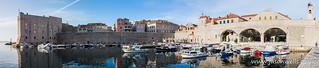 Dubrovnik harbour panorama