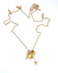 The Private Treasures Necklace. 14K Yellow Gold Pendant Charms On 14K Gold Chain. Unique Handmade Necklace. Recycled Gold. Eco Friendly. (Noa Sharon Designs) Tags: תליון זהב זהבממוחזר עבודתיד עיצוביחודי new gold necklace noasharondesigns recycledjewelry recycledgold handmade solidgold earthy rough design daintyjewellery fineartjewelry fairtrade charms
