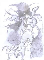 dibujo a lapiz (ivanutrera) Tags: draw dibujo drawing dibujoalápiz sketch sketching skull calavera calaca horse animal caballo