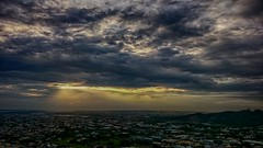柳暗花明又一村 The light in the darkness (葉 正道 Ben(busy)) Tags: taichung taiwan landscape 風景 自然 nature clouds 雲 雲隙光 crepuscularˍrays light
