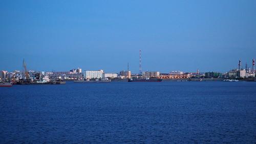 Port of Yakutsk at night