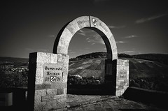 Tor ins Remstal (DrQ_Emilian) Tags: blackwhite architecture view monochrome kernen stetten remstal germany badenwürtemberg photography travel outdoors stones old monument