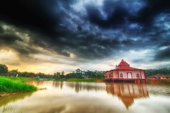 IMG_5620 ~ masjid (alongbc) Tags: masjidtanah melaka malaysia travel place trip building architecture mosque floatingmosque sunrise cloud lake sky canon eos700d canoneos700d canonlens 10mm18mm wideangle