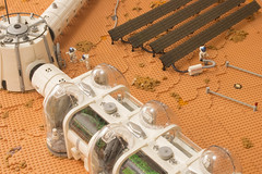 Arsia Prime | 1 (eldeeem) Tags: lego mars colony settlement greenhouse vegan rover flesh nougat exploration science scifi