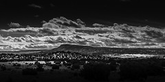 Galisteo Plateau (Mabry Campbell) Tags: 2015 december h5d50c hasselblad mabrycampbell newmexico santafe santafecounty usa unitedstatesofamerica blackandwhite commercialphotography countryside fineartphotography image landscape monochrome outdoors photo photograph photographer photography f12 december232015 20151223campbellb0000176 80mm ¹⁄₆₄₀sec 100 hc80