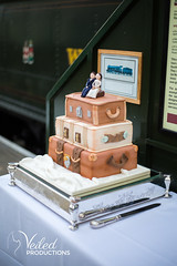 James and Emma's Wedding cake | Veiled Productions