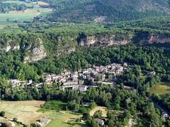 Larroque (François Magne) Tags: ulm pendulaire vue aerienne village église rue ruelle pont tarn tarnetgaronne larroque bastide