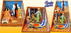 SUNTAN TUESDAY TAYLOR'S SUMMER WINTER VACATION HOUSE (ModBarbieLover) Tags: tuesday taylor fashion doll 1977 suntan beach house ski chalet toys seventies fashions barbie tressy cher
