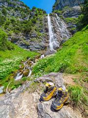 Dalfazer Wasserfall (Wolfgang Hackl) Tags: austria landschaft sommer achensee tirol tyrol summer hiking shoes waterfall torrent mountains alps trees