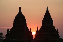 double stupa (PawL23) Tags: myanmar sun goldenhour burma bagan temple stupa sunset silhouette