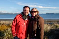 Me and Jenn (Petone Beach) (catfordCelt) Tags: lionstour lionstour2017newzealand downunder lowerhutt wellington newzealand nz