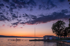 End of Day (jpetcoff) Tags: sunset dusk colors sun canandaigualake water serentiy beautoful sky clouds dock summer warm end horizon
