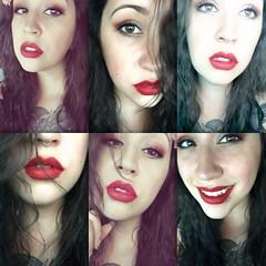 Red... bloody red... (Victoria3Lynn) Tags: 25 hispanic 505 lips red lipstick redlipstick