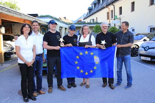 Ziel und Siegerehrung in Anif-Niederalm, Salzburg