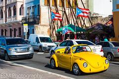 Tarde en San Juan (E S M Photography) Tags: classic yellow streetphotography street party vw puertorico sanjuan