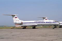 CCCP-65801 Tupolev TU-134AK Aeroflot (pslg05896) Tags: ulv uwll ulyanovsk baratayevka russia cccp65801 tupolev tu134 aeroflot