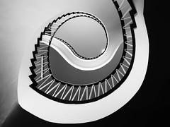 Industrie- und Handelskammer (I) [EXPLORE 2017-06-25] (pix-4-2-day) Tags: treppe stairs staircase stairwell treppenhaus wendeltreppe spiral steps stufen monochrome schwarzweis blackandwhite curve ernstfriedrichbrockmann brockmann architect architecture architektur pix42day