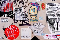 Roma. Trastevere. Street art by BB.Queen, Punky, Mr.Minimal, ... (R come Rit@) Tags: italia italy roma rome ritarestifo photography streetphotography urbanexploration exploration urbex streetart arte art arteurbana streetartphotography urbanart urban wall walls wallart graffiti graff graffitiart muro muri artwork streetartroma streetartrome romestreetart romastreetart graffitiroma graffitirome romegraffiti romeurbanart urbanartroma streetartitaly italystreetart contemporaryart artecontemporanea artedistrada underground poster posterart colla glue paste pasteup sticker stickers stickerart stickerbomb stickervandal slapart label labels adesivi slaps signscommunication roadsign segnalistradali signposts trafficsignals bbqueen punky mrminimal trastevere rionetrastevere