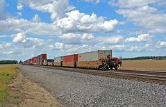 Farewell 29G (craigsanders429) Tags: cloudsandsky stacktrain nsstacktrain nssanduskydistrict clouds norfolksouthern norfolksoutherntrains intermodaltrains tracks railroadtracks