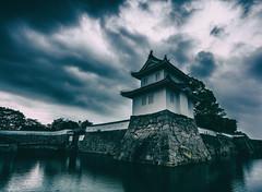 Ako castle, Japan (S. Ken) Tags: japan castle edo 城 赤穂 ako spooky sky rain 雨 cloud variotessar16354za sony a7r2 variotessartfe41635 za carlzeiss archtecture