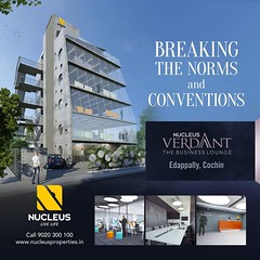 Striving to create a work design that would connect people to one another that could take your business experience to a level that is indescribable. Set to look exceptional for business standards, Nucleus Verdant located near Lulu Mall, Edappally houses 4 (nucleusproperties) Tags: beautiful life officespace kochi elegant style kerala realestate lifestyle india commercial luxury comfort nature architecture interior gorgeous design elegance environment beauty building exquisite view office city construction business atmosphere living