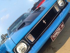 Mach 1. (anthonymurphy5) Tags: musclecar bluecar mach1 fordmustang ford