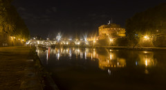 when angels sleep (Sergey S Ponomarev) Tags: sergeyponomarev canon eos 70d zenit zenitar night notte rome roma italy italia europe river tevere tiber reflections angel castello saintpeter water lights bridge embankment panorama travel tourism le longexposure may maggio spring primavera сергейпономарев город пейзаж рим европа туризм путешествия зенит зенитар длиннаявыдержка май весна отражения мост замок храм христианство christian classic