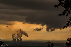 In between storms (Irina1010_OFF) Tags: sunset storm clouds dramatic sky powerplant perspective panorama canon redtopmountain