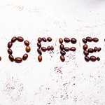 The word coffee from coffee beans thumbnail
