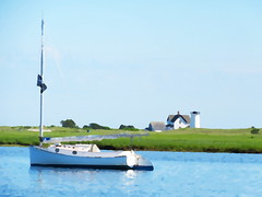 Stage Harbor Light and Catboat, Chatham, MA (Glibbig) Tags: newengland massachusetts chathamma capecod lighthouse