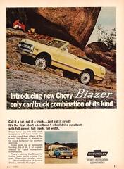 1969 Chevrolet Blazer (aldenjewell) Tags: 1969 chevrolet blazer ad