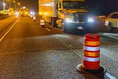 One lane down (OregonDOT) Tags: oregondot oregonstatepolice kniferivercorporation workzone workzonesafety construction oregon odot safety patrol enforcement police woodburn interstate5 i5