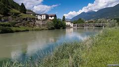Chiuro (Franco Folini) Tags: all chiuro adda fiume valtellina italy italia baghetto ponte river panorama alps alpi