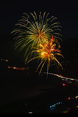 27 (morgan@morgangenser.com) Tags: pacificpalisaddes beach belairbayclub blue celebrate fireworks color iso100 july3rd loud nikon night ocean orange pch people red reflection special spectacular streaks timeexposire tripod yellow amazing