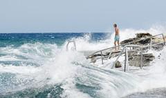 Summer Storm (marksapienza) Tags: sea rough storm swimmer swimming beach summer shore surf