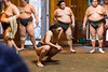 Rikishi during shikiri (borissalhaji) Tags: tokyo sumo rikishi training morning entraînement sumotori matin dojo sport art martial combat japon japan