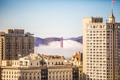 My Morning View (Thomas Hawk) Tags: america bayarea california fairmont fairmonthotel goldengatebridge karlthefog sanfrancisco usa unitedstates unitedstatesofamerica westcoast bridge fog us fav10 fav25