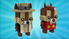 Chip and Dale (Oky - Space Ranger) Tags: lego brickheadz disney afternoon cartoon toon chip dale rescue rangers