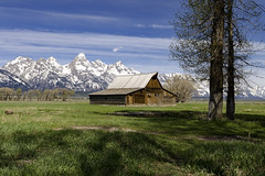 Barn (rschnaible) Tags: grand teton national park mormon row wyoming western us usa sightseeing tour tourist barn building architecture history historic farm farming ranch landscape mountains